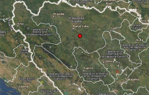 Osetilo se lagano podrhtavanje: Registrovan zemljotres kod Banjaluke