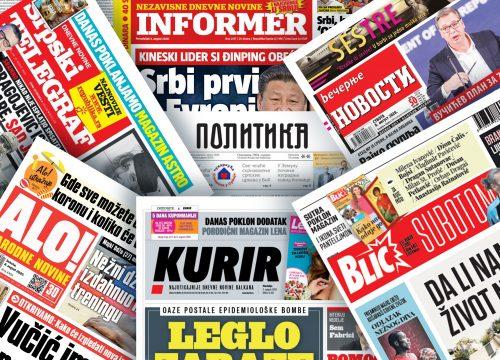 Pogledajte NASLOVNE STRANE novina za 19. avgust: Većina mera se ukida za mesec dana… (FOTO)