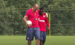 Snimio ga Stanković: Kanga trenirao PRVI PUT posle povratka u Zvezdu, motivisan je DO DASKE! (VIDEO)